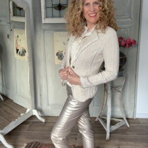 off white met beige streept stretch colbert Your Personal Shopper