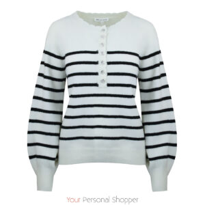 Gestreepte dames trui off white donker blauw your personal shopper