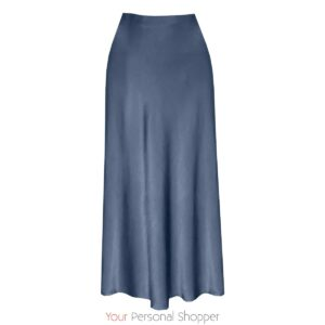 Licht blauwe viscose zijden midi rok Your Personal shopper