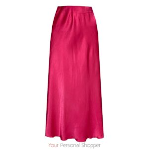 Roze satijnen viscose midi rok Your Personal Shopper