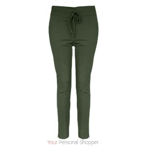 jade groene dames travel broek Your Personal Shopper