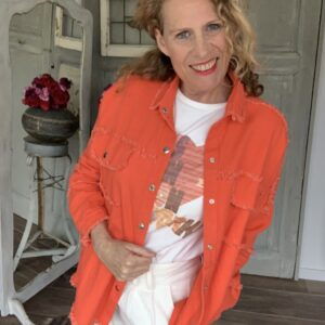 Oranje dames jeans jack oversized Your Personal Shopper
