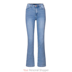 flared dames jeans licht blauw your personal shopper