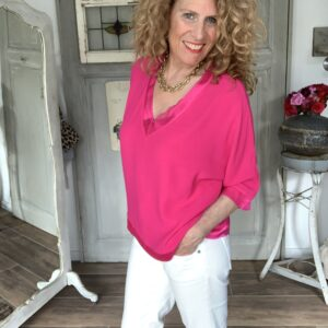 fuchsia losvallend dames viscose top Your personal shopper