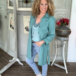 Aqua riped dames jeans jack met raffel randje your personal shopper