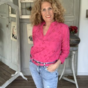 Broderie blouse fuchsia your personal shopper