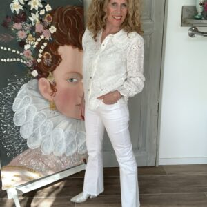 Witte dames flared jeans Your Personal Shopper