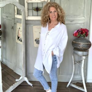 Witte oversized dames blouse katoen your personal shopper