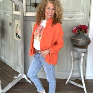 riped dames jeans met raffel randje your personal shopper