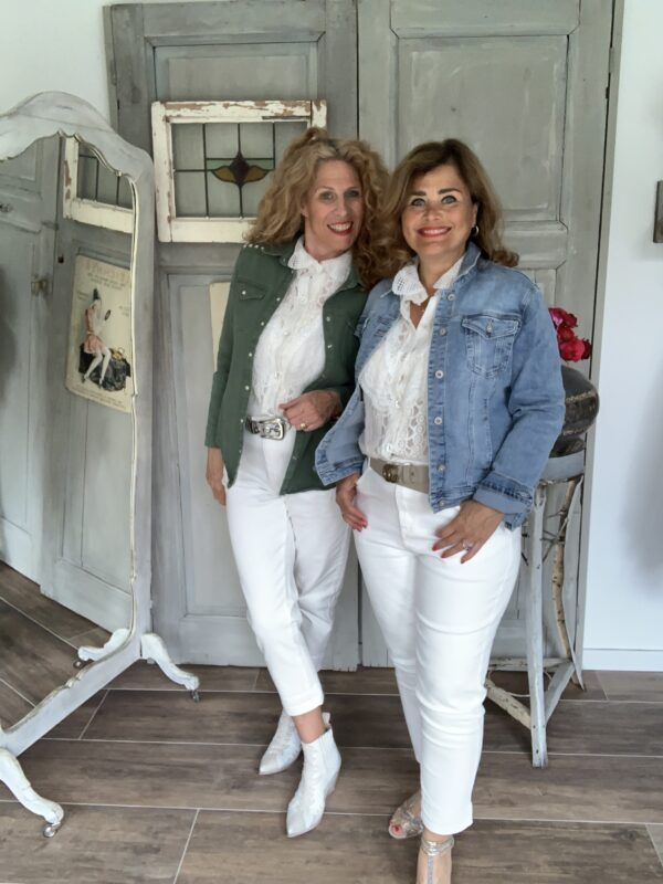 Witte stretch zomer jeans Your personal shopper