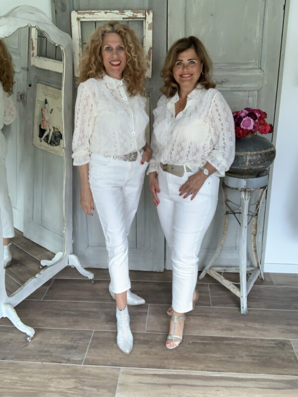 off white zomer jeans kort model Your Personal shopper