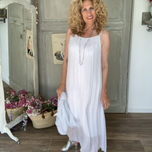 witte voile zomerjurk losvallend Your Personal shopper