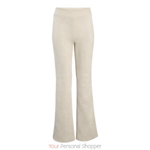 Flared stretch dames pantalon Off white BR&DY Your Personal Shopper