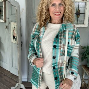 Off white dames trui met boothals BR&DY Your Personal shopper